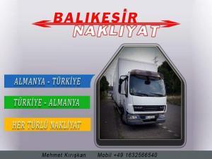 Almanya Türkiye arası nakliyat Transport