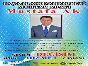 Balikesir Paşaalanı MUHTAR ADAYI Mustafa AK